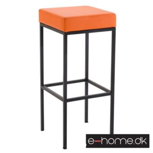 Barstol Newark 85 Kunstlæder Sort - Orange_309663_e-home
